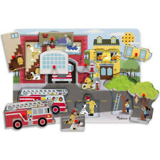 Melissa and Doug - Around The Fire Station Wooden Jigsaw Puzzle for Children