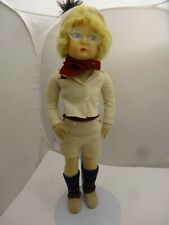 """18"""" EROS, Lenci Competitor, Boy Doll, V Good Antique Condition, Must SEE"""