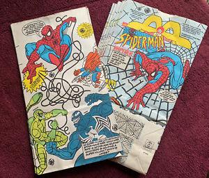 1995 Vintage SPIDER-MAN McDonald's Happy Meal Paper Bag (singles)