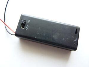 Batteriebox mit Schalter für 2x Micro (AAA) Batteriehalter mit Anschlußkabeln