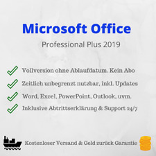 Microsoft Office 2019 Professional Plus inkl. Key | 64-Bit | ESD | Vollversion