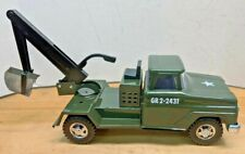 Desull Collectable 1964 Tonka Army Back Hoe Truck - Custom
