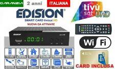 Decoder Edision Picco S2 Wifi integrato con CARD TVSAT HD WIFI nuova da attivare
