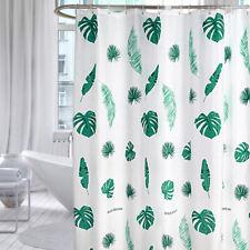 Tropical Shower Curtain Extra Long Bathroom Blind Eyelet Drape W/Ring Drop 200cm