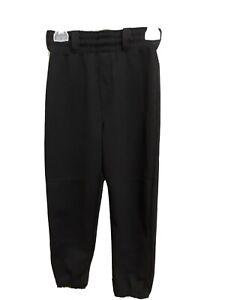 Rawlings Boys Youth Size S Small Black Baseball Pants
