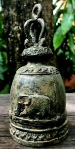 Bell Church Buddha Clapper Chime Hanging Temple Sound Elephant Feng Shui Antique
