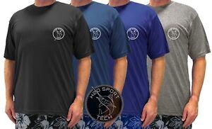 Big & Tall Men's H2O Sport Tech Short Sleeve Swim Shirt 2XL-5XLT Swordfish Print