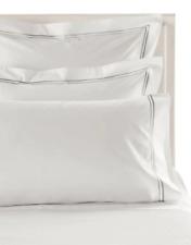 1 Frette, PIAVE Pillow Case, White Grey, Standard