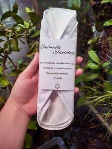 Damenbinden Slipeinlagen Weiß waschbar 100% Baumwolle Flügel Knopf Sanitary Pad