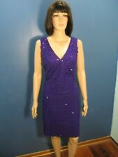 Size 14 purple RUFFLED SPARKLE LINED dress by RONNI NICOLE