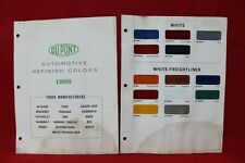 DUPONT 1966 Truck Color Paint Chip Sample White White-Freightliner (133)