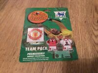 Vintage Man Utd Fridge Magic - Badge & Home/Away Kit Magnet Set -25 Years Old