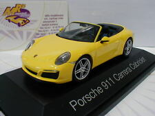 "Herpa 071024 - Porsche 911 (991 II) Carrera Cabriolet in "" gelb "" 1:43 NEU"