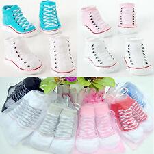 1Pair New Toddler Socks Newborn Unisex Infant Cotton Crib Shoe Booties Socks