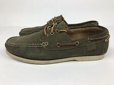 Polo Ralph Lauren Mens Leather Moccasin Boat Shoes Loafers Green Eu 42 US 9 UK 8
