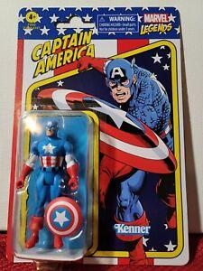 """CAPTAIN AMERICA Marvel Legends Retro Avengers 3.75"""" Figure Hasbro Kenner NEW"""