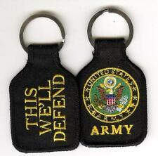 US ARMY THIS WE'LL DEFEND EMBROIDERED KEY FOB