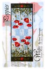 Poppies Table Runner Poppy Flower Wildfire Designs Alaska Quilt Pattern