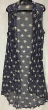 Crazy Train OH MY STARS Long Duster Light Weight  One Size So Cute