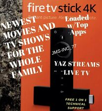 🔥📺FULLY LOADED📺🔥 Fire Stick 4K Alexa Voice Best Build Unlocked NEW