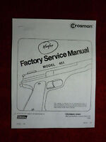 Crosman 451 (Military 45) Factory Service Manual With Exploded View & Parts List