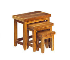 Reed 3 Piece Nest of Tables Solid Hardwood [NT06]