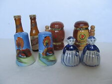 4 Sets of Vintage Salt & Pepper Shakers. Check all Pictures Free Shipping in USA