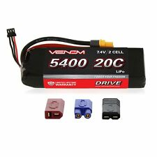 Venom LiPo Battery : Traxxas Slash 1:10 20C 7.4V 5400mAh 2S with UNI Plug