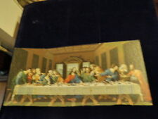 "Vtg PBN Paint By Number Picture The Last Supper Painting 32"" X 14.5"" Shabby   T"