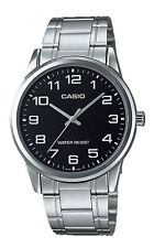 Casio MTP-V001D-1B Men's Standard Stainless Steel Easy Reader Black Dial Watch