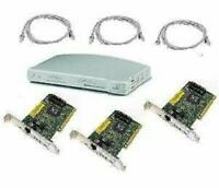 Kit di rete composto da: 1 Switch 3Com  +  3-3COM 3c905b + 3 Cavi Lan 1,8m