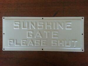 Sunshine Gate Plate
