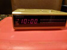 Vintage 80's Sony Dream Machine Fm/Am Digital Clock Radio Icf-C2W