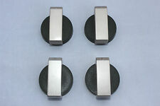TECHNIKA OVEN/COOKTOP (bellissimo) KNOB SILVER/BLACK ORIGINAL PACK OF 4