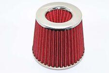Doppio Cono Universale filtro aria 3 PORTE W155 h130mm COLLO Rosso 65mm
