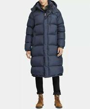 NWT Polo Ralph Lauren Mens Hooded Down Long Navy Puffer Jacket Parka Coat S