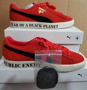 NEW AUTHENTIC PUMA CLYDE x PUBLIC ENEMY SNEAKERS  US 8.5