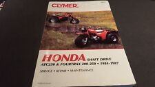 Clymer HONDA service MANUAL ATC250 & FOURTRAX 200-250 1984-1987 SHAFT DRIVE M455