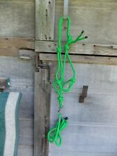 Cowboy Knotted Halter Poly Filled Soft Matching Lead Adverage Horse Lite Green