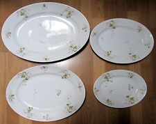 Set 4 Antique Graduated Victorian Theodore Haviland Limoges Oval Platters 1903