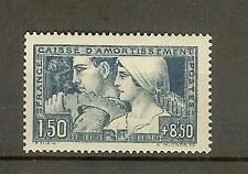 "FRANCE STAMP TIMBRE N° 252b "" C.A. LE TRAVAIL 1928 ETAT III "" NEUF xx TTB"