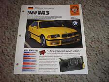 1993-PRESENT BMW M3 Series Hot Cars Group 1 #32 Spec Sheet Brochure