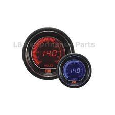 60mm Stealth Azul / Rojo Pantalla Lcd Digital voltios / Voltaje Gauge Para Evo Subaru Nissan