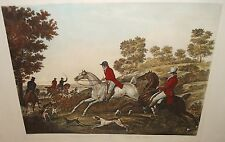 """P.L.DEBUCOURT """"THE FOX CHASE"""" ORGINAL COLORED HUGE ENGRAVING"""