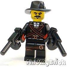 M111GNB Lego Gangster Bandit Cowboy Minifigure w/ 2 Automatic Magazine Guns NEW