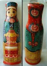 USSR russian nesting doll BOTTLE HOLDER woman 1996