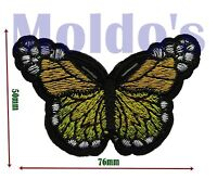 Yellow Butterfly iron Sew Embroidered Patch Badge Patches Logo Fancy Badges #341