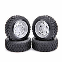 4Pcs Rubber Tires&Wheels Rims Set For HPI HSP RC 1:10 Scale On Road Racing Car
