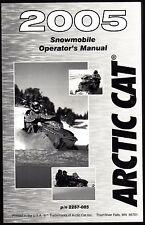 2005 ARCTIC CAT SNOWMOBILE OPERATORS MANUAL ENGLISH & FRENCH P/N 2257-085 (902)
