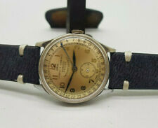 USED VINTAGE ORIS CUERVO Y SOBRINOS HABANA UNICOS SILVER DIAL MANUAL WIND WATCH